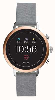 Fossil Verbundenes q Venture HR Smart Watch graues Silikonband FTW6016