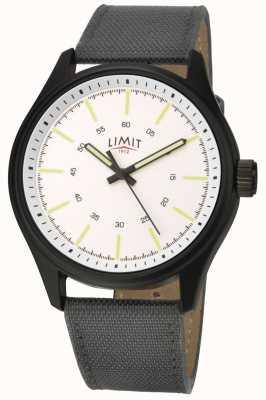 Limit | Herren | schwarzes Lederarmband | weißes Zifferblatt | 5949.01