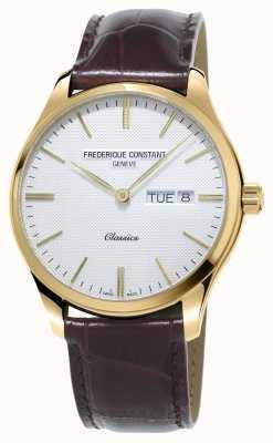 Frederique Constant | klassischer Quarz für Herren | braunes Lederband FC-225ST5B5