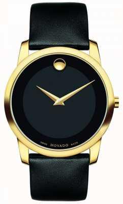 Movado | Herren Museum klassische Uhr | schwarzes Leder | 0606876