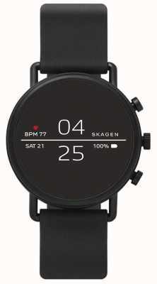 Skagen Angeschlossene Smartwatch aus schwarzem Silikon SKT5100