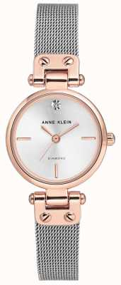 Anne Klein | Damen Kabel Uhr | Silberton | AK-N3003SVRT