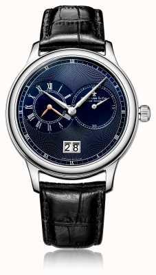 Dreyfuss Herren-Quarz-Chronograph aus schwarzem Leder DGS00120/05