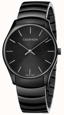 Calvin Klein | Herren Klassiker Midsize | schwarzes Edelstahlband | K4D21441