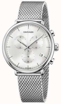 Calvin Klein | Herren High Noon Edelstahlband | silbernes Zifferblatt | K8M27126