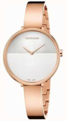 Calvin Klein | Aufstiegserweiterung der Frauen | Roségold-Armband | zweifarbiges Zifferblatt K7A23646