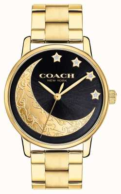 Coach | Damen Grand Watch | gold mit monddetails im gesicht 14503278