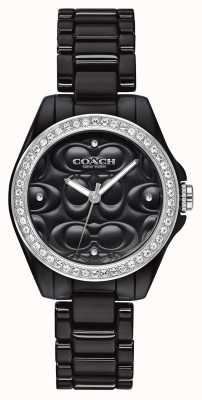 Coach | moderne Sportuhr | schwarzes Gesicht | schwarzes Armband | 14503255