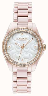 Coach | moderne Sportuhr für Damen | pink mit weißem gesicht | 14503256