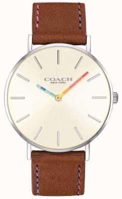 Coach | Damen-Armbanduhr | braunes Lederband weißes Zifferblatt | 14503032