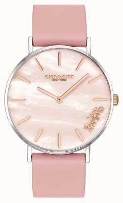 Coach | Damen-Armbanduhr | rosa Lederband | 14503244