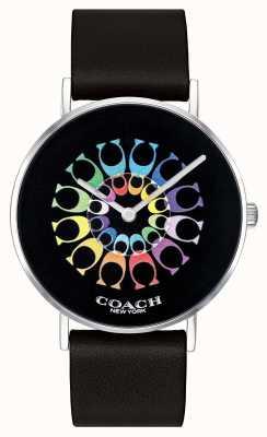 Coach | Damen-Armbanduhr | schwarzes Lederarmband schwarzes Zifferblatt | 14503289