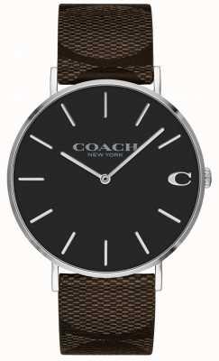 Coach | Herren Charles Uhr | braunes Lederarmband | 14602156