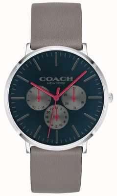 Coach | Herren Varick Uhr | Chronograph beige Armband schwarzes Zifferblatt 14602390