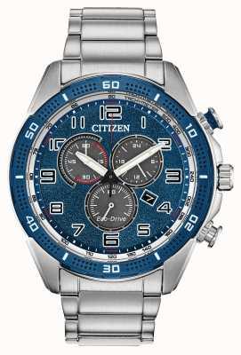 Citizen Mens Drive sind eine Öko-Drive-Uhr mit blauem Zifferblatt AT2440-51L