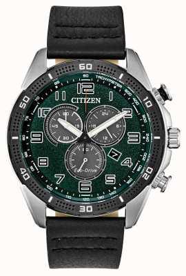 Citizen Für den Öko-Antrieb war das grüne Zifferblatt Leder wr100 erforderlich AT2441-08X
