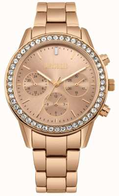 Missguided | Damen Roségold Edelstahl | Rose Zifferblatt | Chronograph MG002RGM