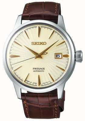 Seiko | herren | Vorahnung | automatisch | braunes Lederband | SRPC99J1