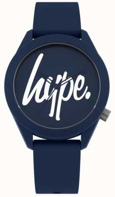 Hype | blaues Silikonarmband für Herren | blaues und weißes Zifferblatt | HYG001U