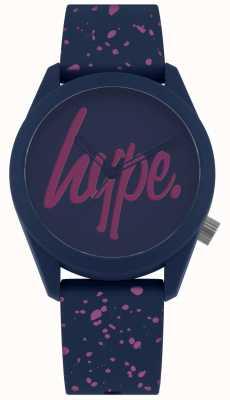 Hype | navy lila Silikonband für Damen | Marine / Lila Zifferblatt HYL001UP