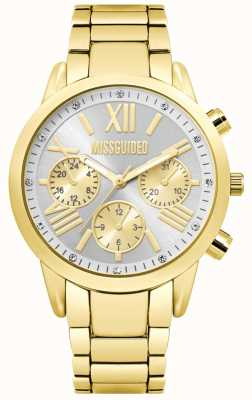 Missguided | damengoldene chronographenuhr | MG008GM