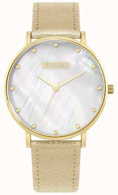 Missguided | goldenes Lederarmband für Damen MG014GG