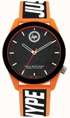 Hype | Herrenuhr | orange und schwarzes silikonband | HYG018BO