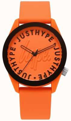 Hype   Herrenuhr   orange Silikonband   oranges Zifferblatt   HYU023O