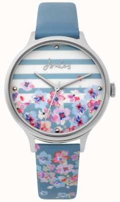 Joules | damenuhr | hellblauer Blumendruckgurt | JSL015US