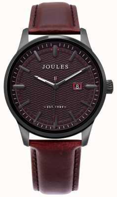 Joules | Herren Marfield Uhr | braunes Lederarmband | braunes Zifferblatt | JSG009BRB