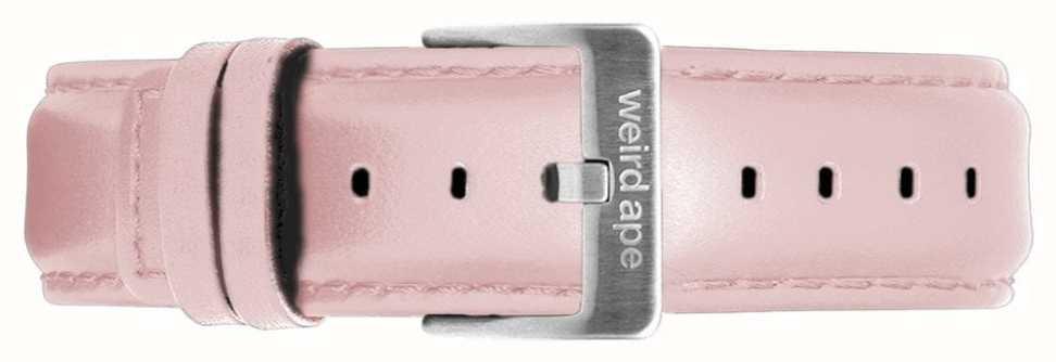 Weird Ape | 16mm pastellrosa Lederband | silberne stahlschnalle | ST01-000053