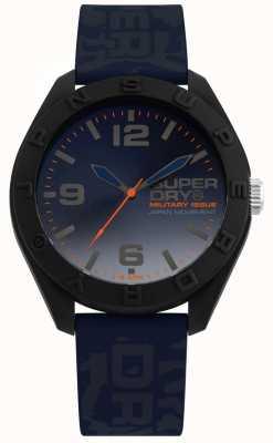Superdry | osaka | camo blaues Silikonband | blaues Zifferblatt | SYG242U