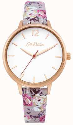 Cath Kidston | Damengartenuhr | weißes Zifferblatt | floraler Lederband | CKL067ERG