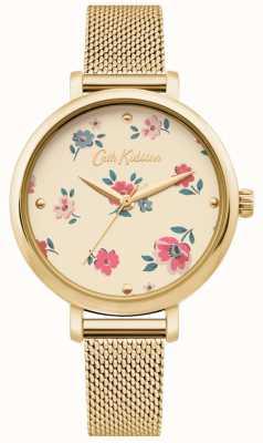 Cath Kidston | Damen Brampton Ditsy Uhr | Goldmaschenarmband | CKL079GM