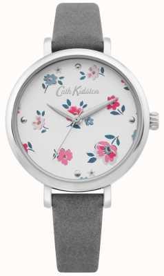 Cath Kidston | Damen Brampton Ditsy Uhr | graues Lederband | CKL079E