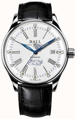 Ball Watch Company Trainmaster Bestreben Chronometer Limited Edition Leder NM3288D-LL2CJ-WH
