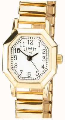 Limit | dehnbares Armband des Goldtons der Frauen | weißes Zifferblatt | 6498
