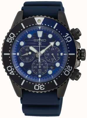Seiko Men's Solar Save the Ocean Black Series Sonderedition SSC701P1
