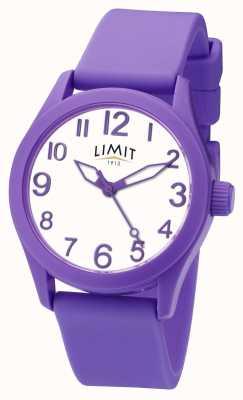 Limit | lila Silikonband | weißes Zifferblatt | 5722