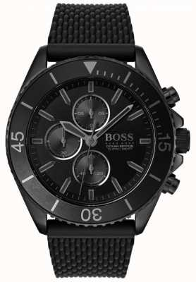 Hugo Boss   Herren Ozean Edition   schwarzes Zifferblatt   schwarzes Armband   1513699