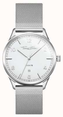 Thomas Sabo | Silberarmband aus Edelstahl | weißes Zifferblatt | WA0338-201-202-40