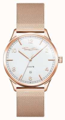 Thomas Sabo | Armband aus Edelstahl Roségold | weißes Zifferblatt | WA0341-265-202-40