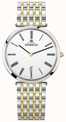 Michel Herbelin | herren | epsilon | extra flaches zweifarbiges Armband | 19416/BT11