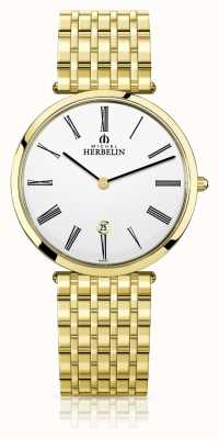 Michel Herbelin | herren | epsilon | extra flaches gold pvd armband | 19416/BP01N