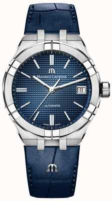 Maurice Lacroix Aikon Automatik blaues Zifferblatt blaues Lederarmband AI6007-SS001-430-1