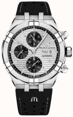 Maurice Lacroix Aikon Automatik Chronograph schwarzes Panda Zifferblatt schwarzes Armband AI6038-SS001-132-1