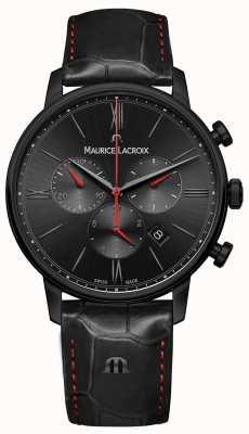 Maurice Lacroix Eliros schwarzes, schwarzes Lederarmband EL1098-PVB01-310-1