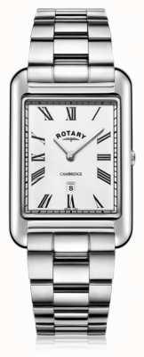 Rotary | Herren Edelstahl Armband | weißes Zifferblatt | GB05280/01