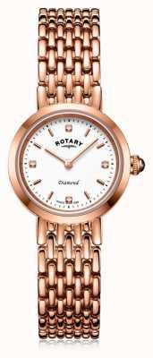 Rotary | damen roségold armband | LB00901/70/D