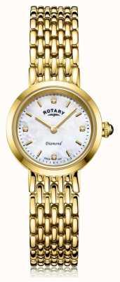 Rotary | Damen Goldarmband | Perlmutt Zifferblatt LB00900/41/D